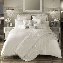 Kylie Minogue Darcey Quilt Cover Superking, Oyster