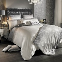 Kylie Minogue Glitter Fade Single Quilt Over, Silver