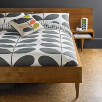 Orla Kiely Flannel Giant Stem Duvet Cover, Double, Granite