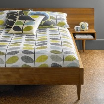Orla Kiely Scribble Stem Duvet Cover, Double, Seagrass