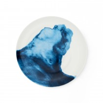 Bliss Side Plate  Porthilly Cove, White/ Blue