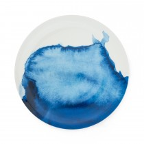 Bliss Dinner Plate  Daymer Bay, White/ Blue
