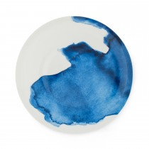 Bliss Dinner Plate  Trevone Bay, White/ Blue