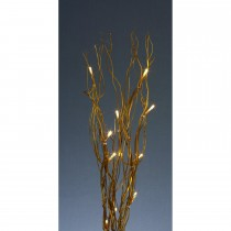 Casa 40cm Gold Twig W-16 Yellow Led, Gold