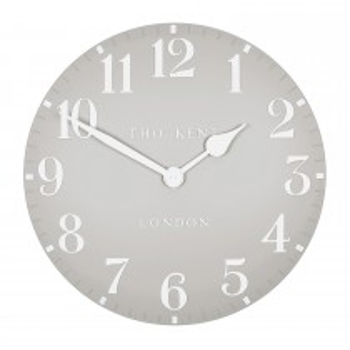 Art Marketing 20 Arabic Clock, Dove Grey