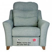 G Plan Upholstery Tate Large Pwr Rec Armchair Chair, C552 Monsoon Marine