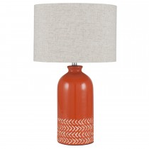 Aimbry Ceramic Complete Table Lamp, Paprika