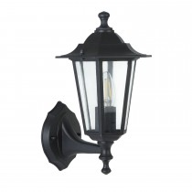 Casa Outdoor Wall Lantern, Black