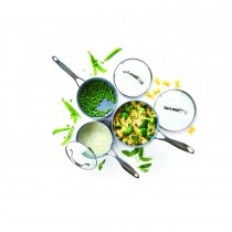 Green Pan Cookware 3pc Saucepan Set Onesize