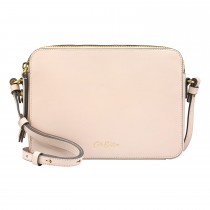 Cath Kidston Leather Lozenge Cross Body Bag, Shell Pink