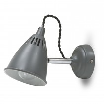 Garden Trading Cavendish Wall Light, Charcoal Steel