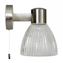 Garden Trading Campden Bathroom Wall Light, Satin Nickel