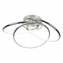 Casa Caroline 3 Ceiling Light, Chrome