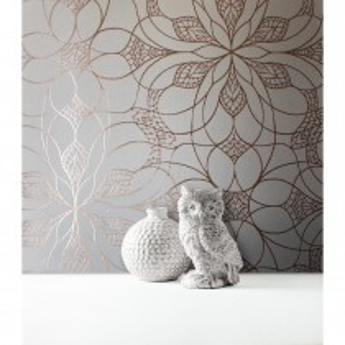 Muriva Eve Floral Geometric Wallpaper, Cream & Rose