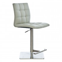 Casa Virgo Bar Stool - Light Grey Stool, Light Grey