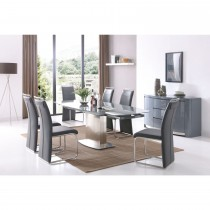 Casa Glacier Table & 6 Chairs Set