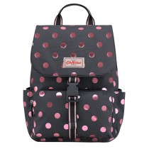 Cath Kidston Buckle Backpack, Graphite Metallic