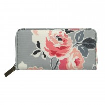 Cath Kidston Continental Zip Wallet, Pale Grey