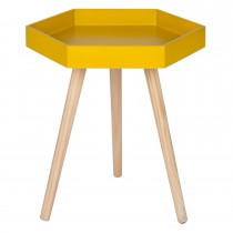 Casa Hexagon Large Table, Mustard