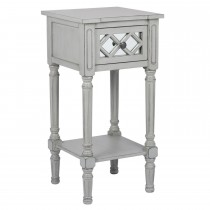 Casa Puglia Accent Table, Grey Mirrored