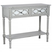 Casa Puglia Console Table, Grey Mirrored