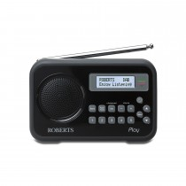 Roberts Dab/fm Radio With Charger, Black