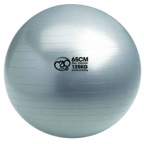 Mad Fitness 125kg Swiss Ball & Pump - 65cm, Silver