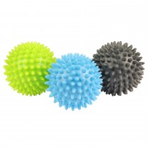 Mad Fitness Spikey Massage Ball Set Of 3, Grey/blue/green
