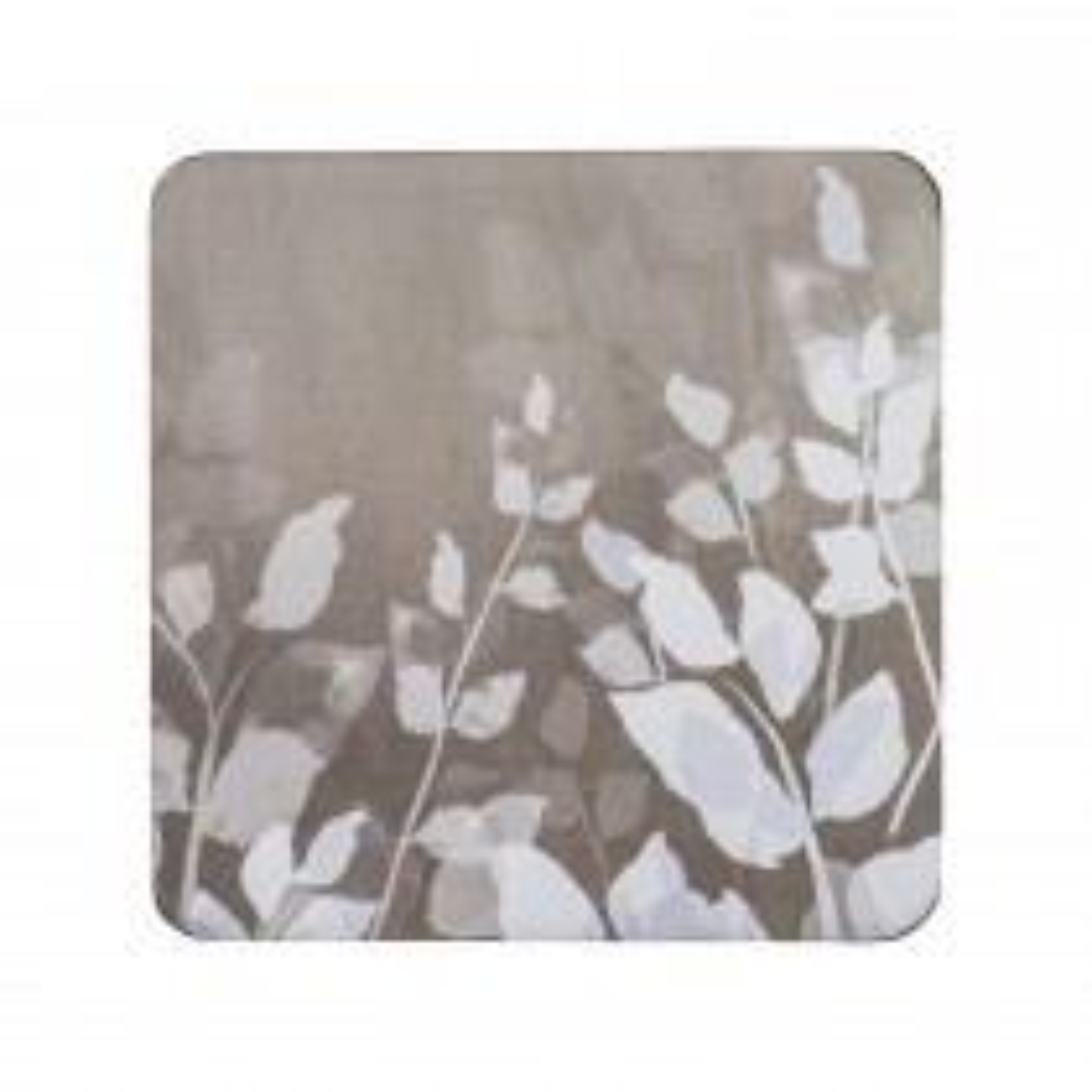 Denby Natural Foliage Coasters, Cream