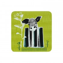 Denby Denby Cow Coasters, Green/yellow