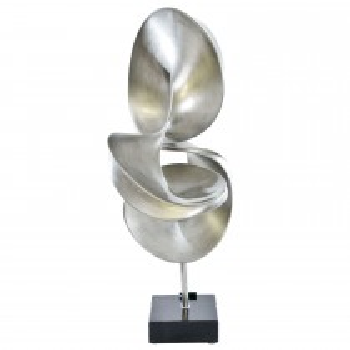 Casa Abstract Liquid Sculpture, Silver