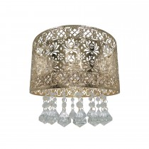 Seattle Rose Ceiling Shade, French Gold