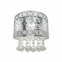 Seattle Rose Ceiling Shade, Chrome