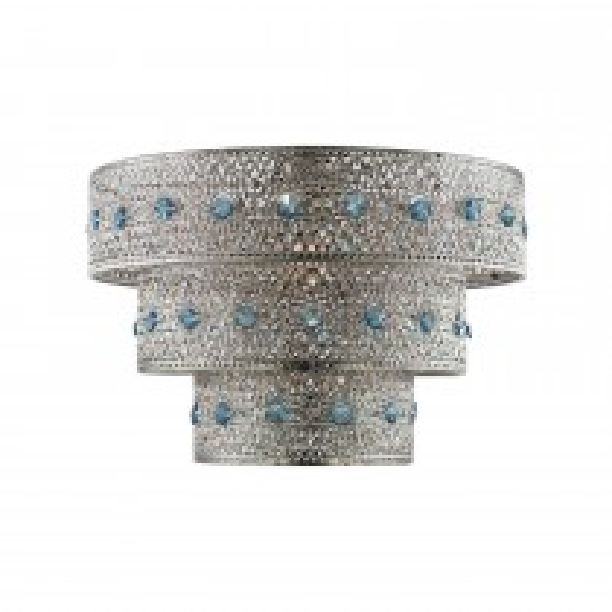 Treanelli Beaded Ceiling Shade, Satin Nickel