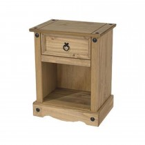 Core Products Connor 1 Drw Bedside Cabinet Onesize, Waxed Pine
