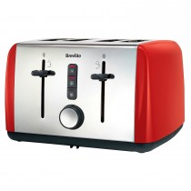 Breville 4 Slice Toaster Red, Red