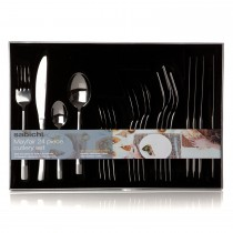 Sabichi Mayfair 24 Piece Cutlery Set, Silver