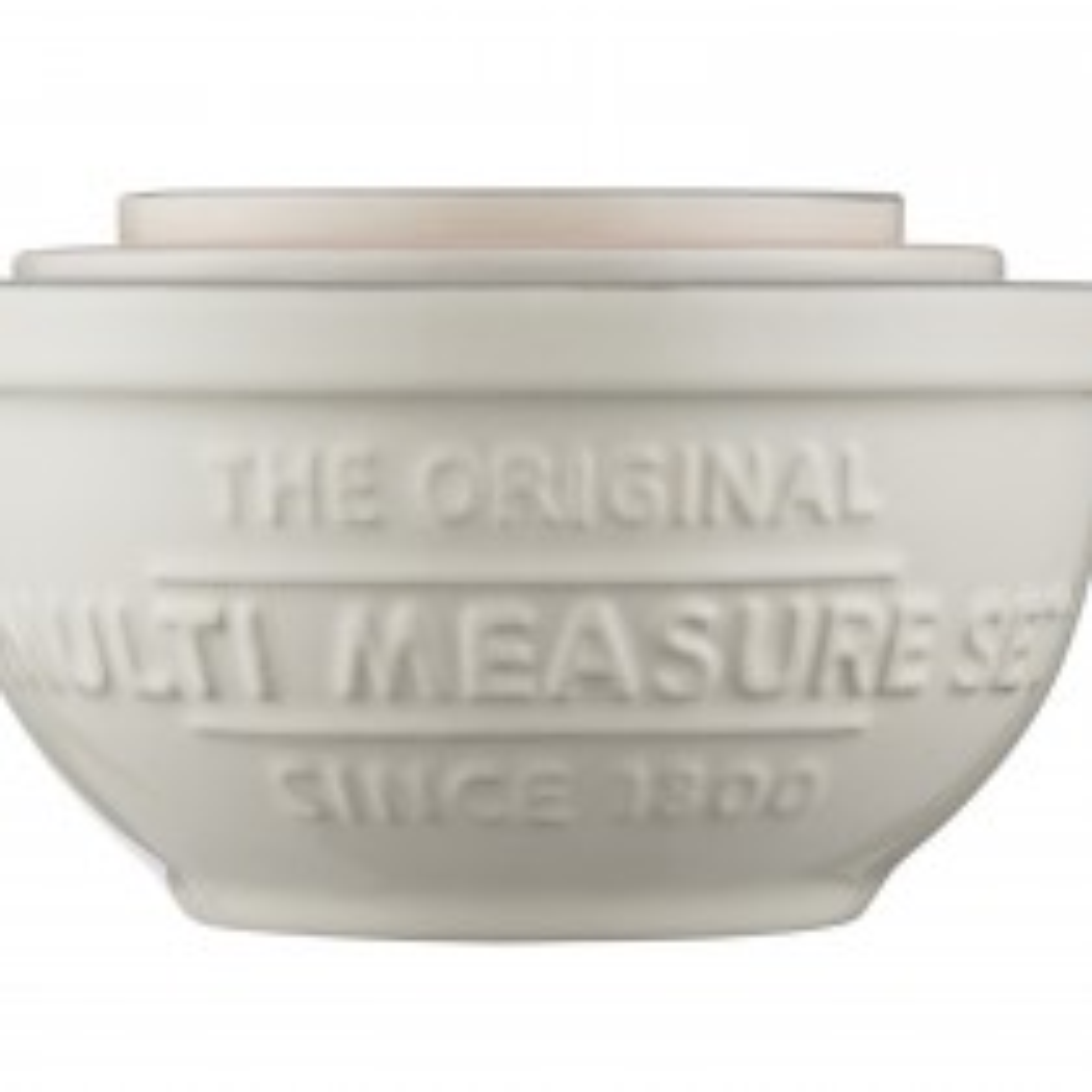 Mason Cash Set Of 3 Measuring Cups, Cream