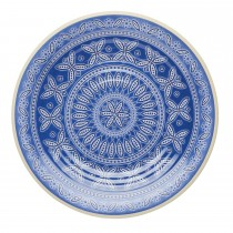Kitchencraft Santorini Side Plate, Blue/Cream