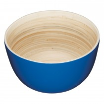 Kitchencraft Salad Bowl Bamboo 25cm, Blue