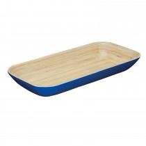 Kitchencraft Serving Tray Bamboo 40cm, Blue