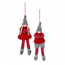 Casa 8cm 2 Asst Grey-red Boy-girl, Red, Grey