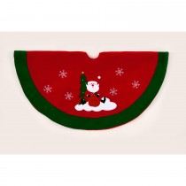 Casa 90cm Santa Tree Skirt, Red 7 Green