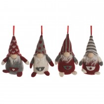 Festive Christmas Gonk Hanging Decoration, Red