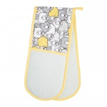 Sheep Double Oven Glove, Yellow/Grey