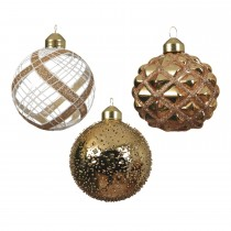 Assorted baubles, Light Gold