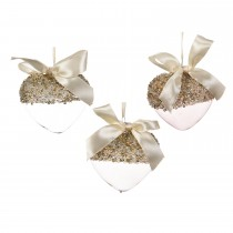 Heart Hanger with Bow, Assorted