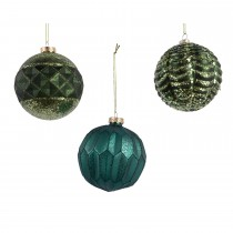Assorted baubles, Greens