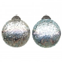 Bauble with Dots, Blue Mist
