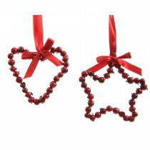 Foam Berry Christmas Hanger, Red